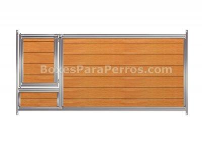 Frente con puerta PVC cachorros Med. 200 x 100 cm