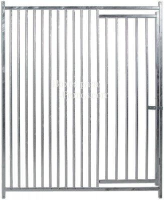 Frente con puerta barras 5 cm. Med. 150 x 185 cm