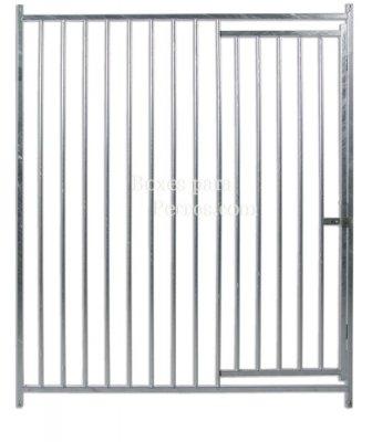 Frente con puerta barras 7 cm. Med. 150 x 185 cm