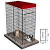 Jaula modular gatos y perros pequeños 0,89 m2