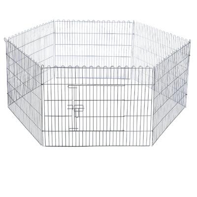 Parque hexagonal para cachorros